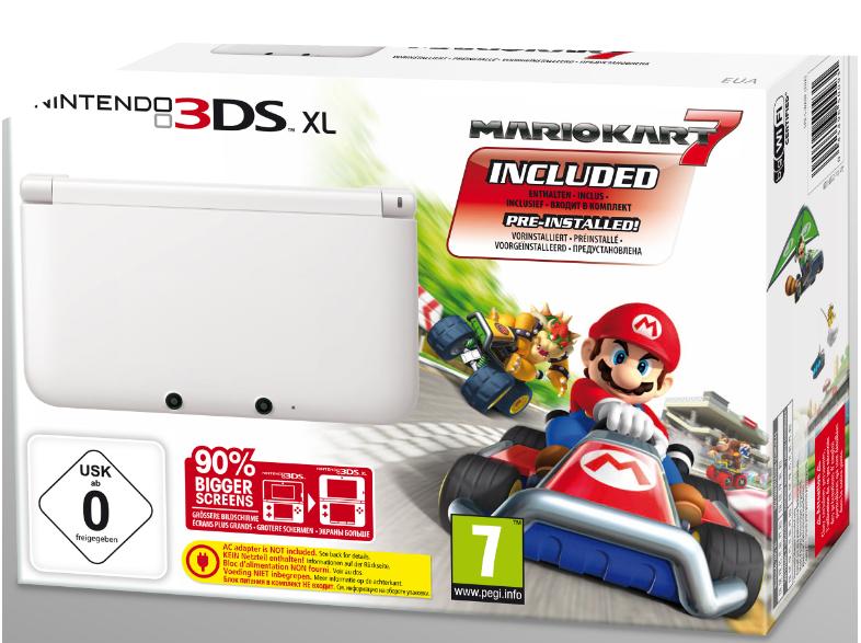 Nintendo 3DS XL + Mario Kart 7 voor €119,99 @ Media Markt