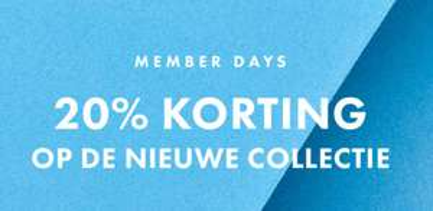Nieuwe collectie -20% korting @ We Fashion