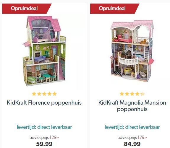 Kidkraft poppenhuizen meer dan 50% korting @ Wehkamp