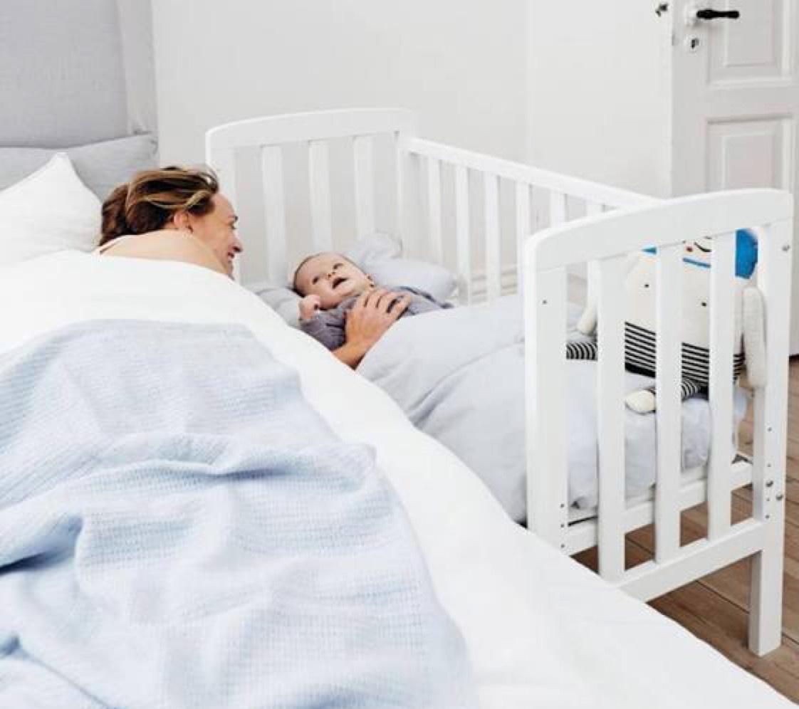 Babydan Wieg-Aan-Bed Alfred - Wit