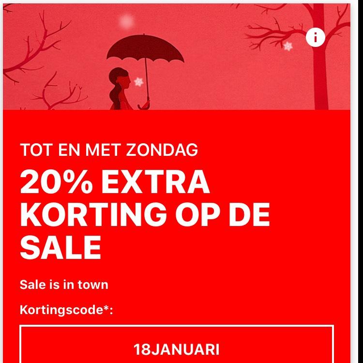 Zalando extra 20% korting op sale