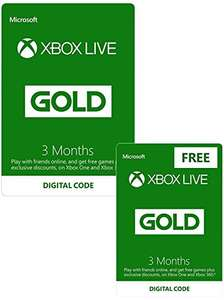 Amazon.co.uk - Xbox Live 3 Month Gold Membership + 3 Month FREE
