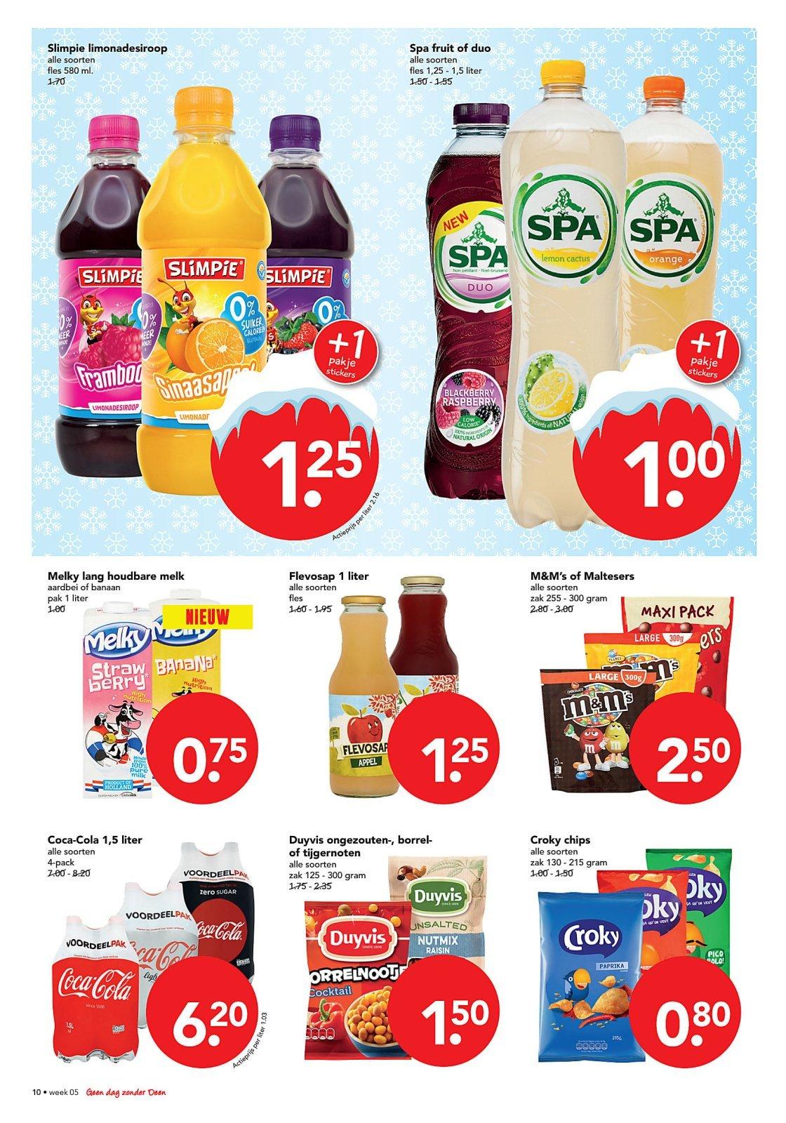 The Coke Report, Coca Cola 4x1,5L €6,20,- @Deen v.a. zo. 28-1