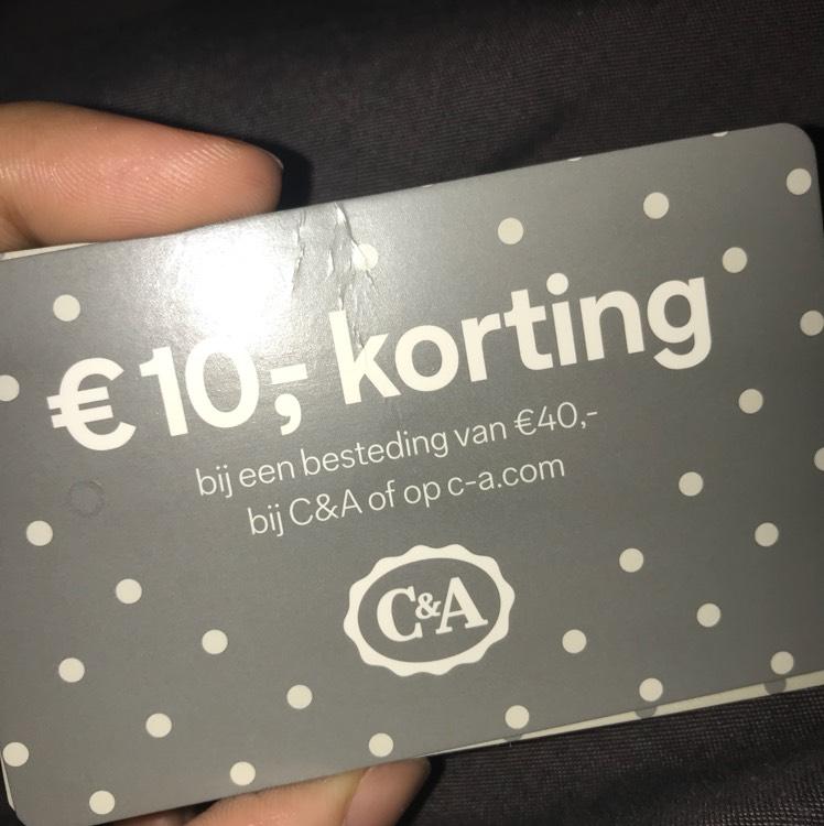 10 euro korting bij besteding van minimaal 40 euro