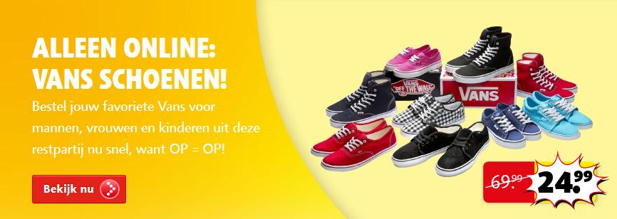 Vans Sneakers voor €24,99 @ Kruidvat