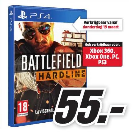 Battlefield: Hardline Pre-order (PS4/Xbox One) voor €55,- @ Media Markt (vanaf maandag)