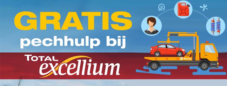 Bij elke tankbeurt Excellium (20L+) 2 weken gratis pechhulp @ Total