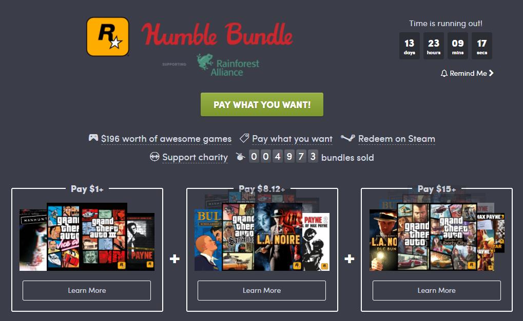 Humble Rockstar Bundle 2018
