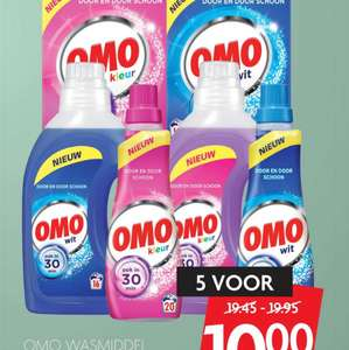 5 verpakkingen Omo (100 wasbeurten) voor €10 @ Dekamarkt