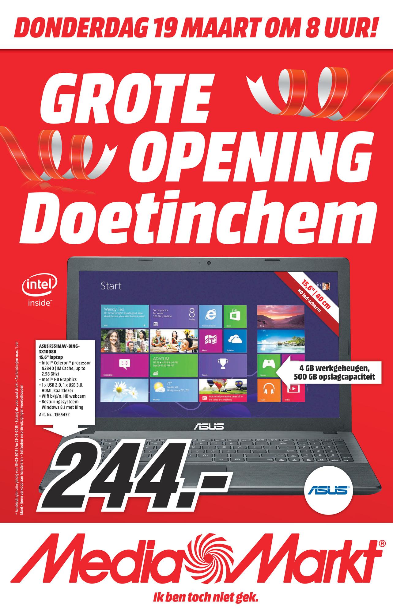 Openingsaanbiedingen voor Media Markt Doetinchem - o.a. 3=2 en PS4 voor €333
