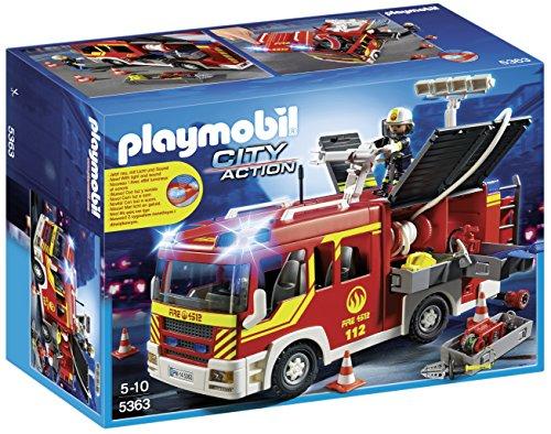 PLAYMOBIL Brandweer pompwagen met licht en sirene - 5363 AMAZON.FR ( adv. 49,99 euro)