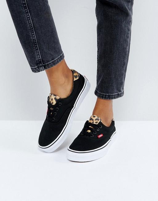 Vans Era zwart / luipaard sneakers €25,18 @ ASOS