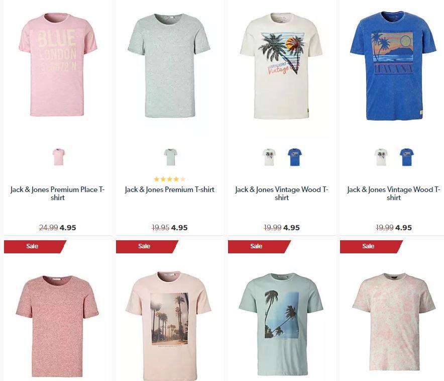 [UPDATE] Jack & Jones t-shirts met 70 % - 80% korting + nu extra korting @ Wehkamp
