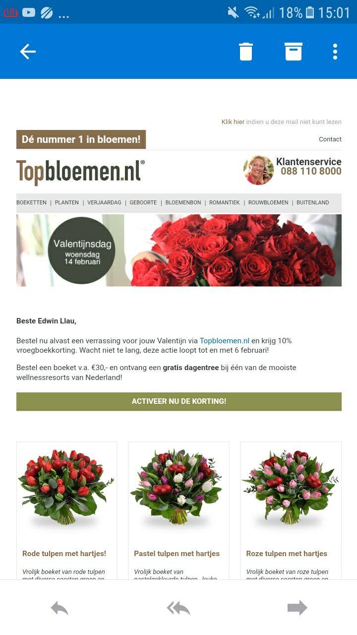 Gratis welness topbloemen