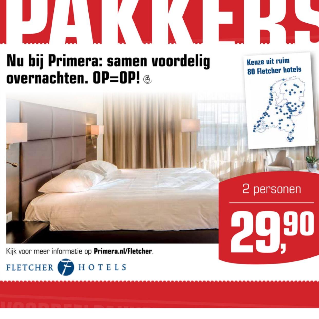 Fletcher hotelovernachting voor 2 personen @Primera