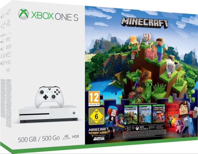Xbox One S Minecraft Console - 500 GB