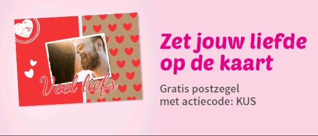 Gratis postzegel voor je Valentijnskaart en nieuwe klanten een gratis kaart tot €3,33