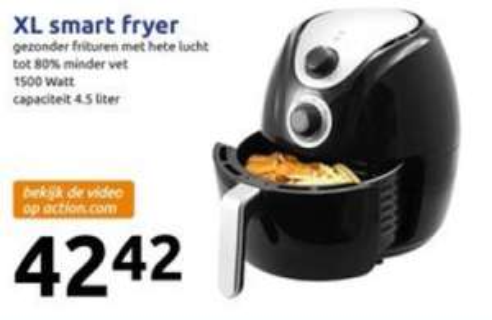 Smart Fryer XL voor €42,42 (vanaf woensdag) @ Action