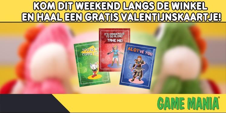 Gratis valentijnskaart @ Game Mania