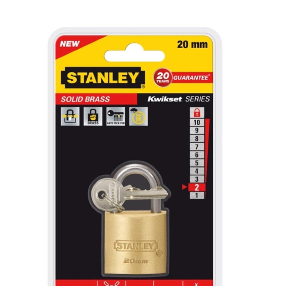 Stanley kwaliteit hangslot 20mm inclusief verzending
