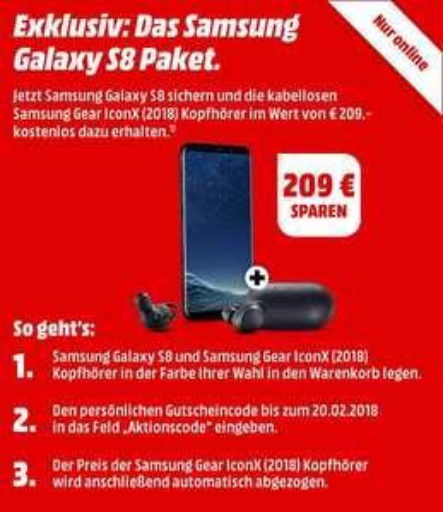 [GRENSDEAL] Gratis Samsung Gear Icon X (2018) bij Samsung Galaxy S8