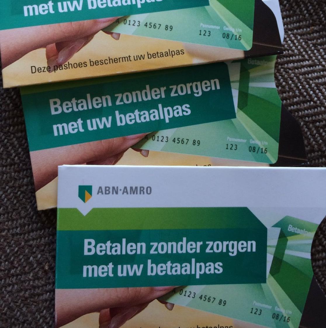 Gratis beschermend bankpas hoesje @ABN Amro