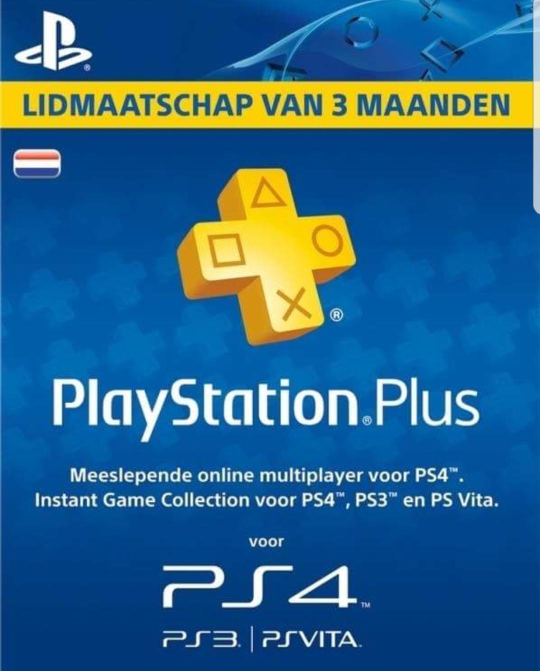 3 maanden Playstation Plus bij Nedgame.nl