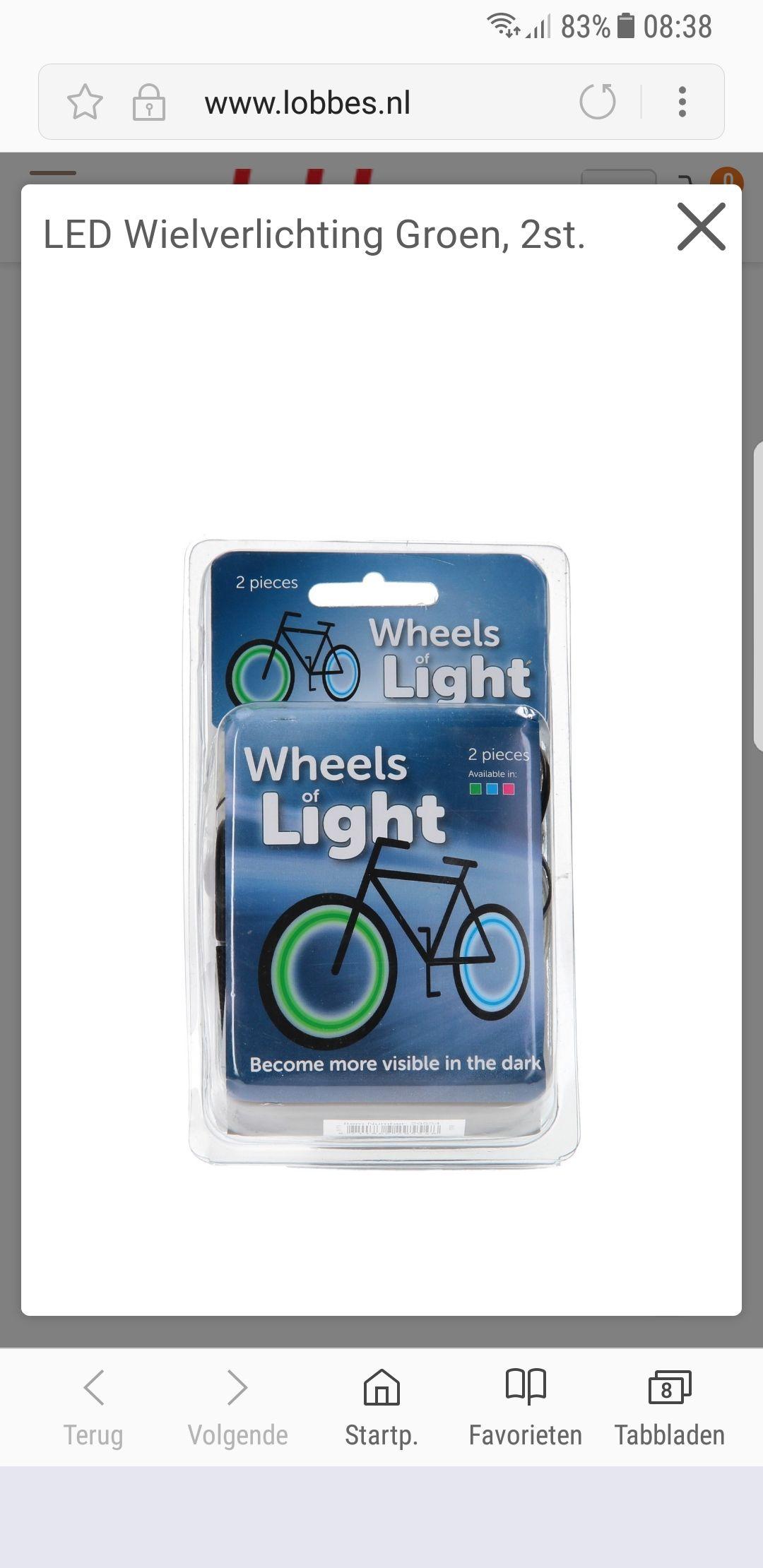 Wiel lichten voor je fiets bij Lobbes.nl