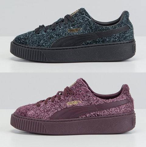 Puma suède Platform sneakers nu €32,15 - zwart + bordeaux - @ Stylepit