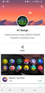 A1 Design diverse Icon Packs Gratis @Play Store