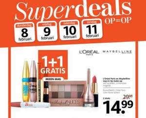 L'Oreál en Maybelline make-up 1+1 Gratis Etos