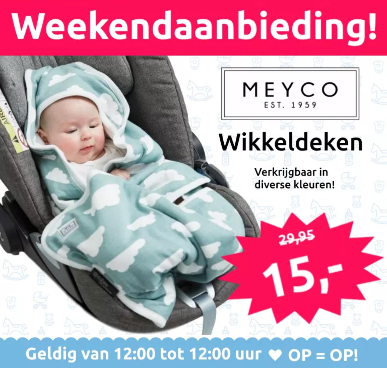 Meyco wikkeldeken voor maar 15,- @Mamaloes Babysjop