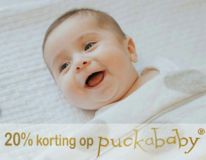 20% korting op Puckababy collectie @ Schattigebabykleertjes.nl