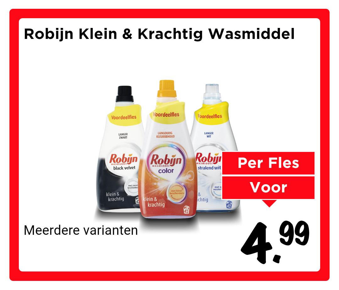 Vomar: Robijn Klein & Krachtig voordeelfles (42 wasbeurten)