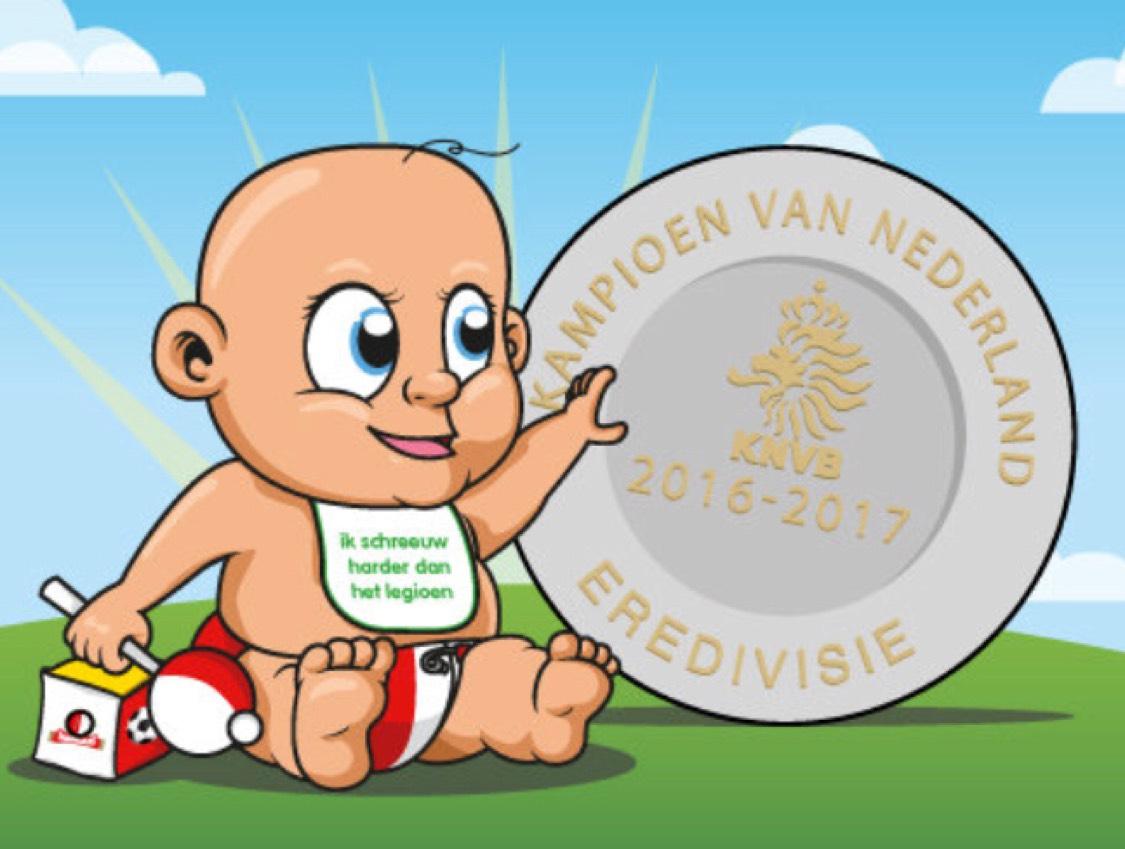 Kraamcadeau voor Kampioensbaby's (Feyenoord-fans)