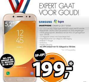 Samsung Galaxy J5 2017 Goud + €10 beltegoed & 1GB data