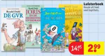 Luisterboeken Roald Dahl €2,99 @ Kruidvat