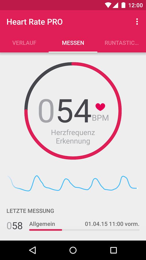 Gratis App Runtastic Heart Rate PRO  @ Google Play