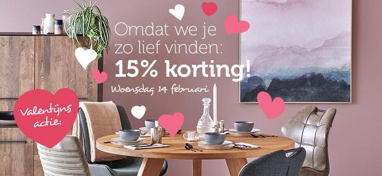 15% valentijnsdag korting woonexpress