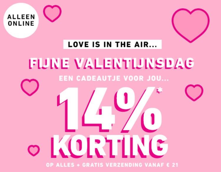 14% valentijnskorting op ALLES @ Forever21