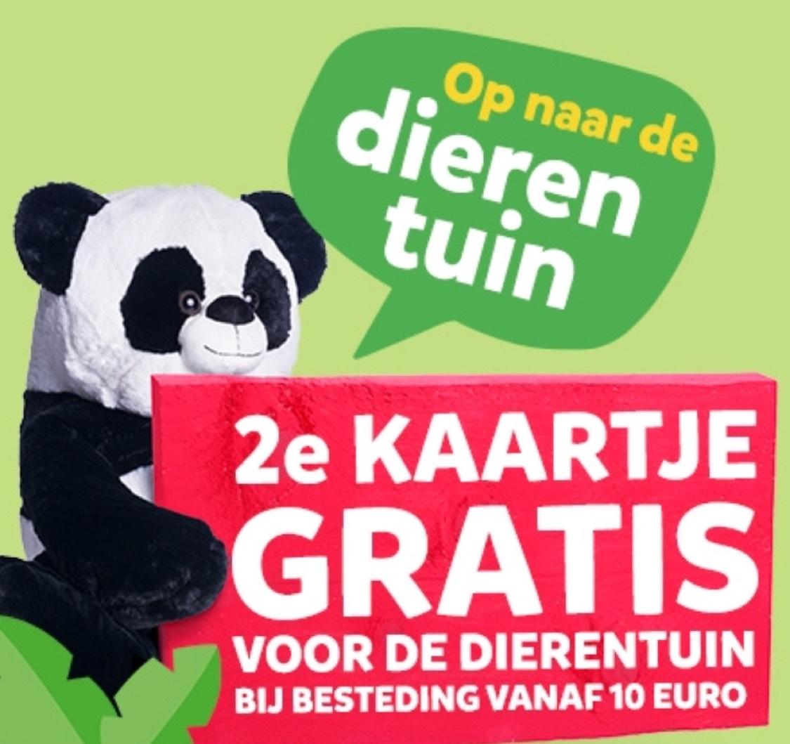 2e Dierentuinkaartje gratis bij besteding van 10 euro bij Intertoys