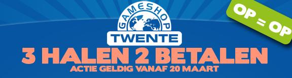 3 halen 2 betalen @ Gameshop Twente