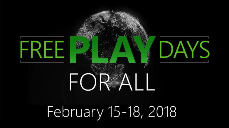 Free Play Days van 15 t/m 18 februari @ Xbox