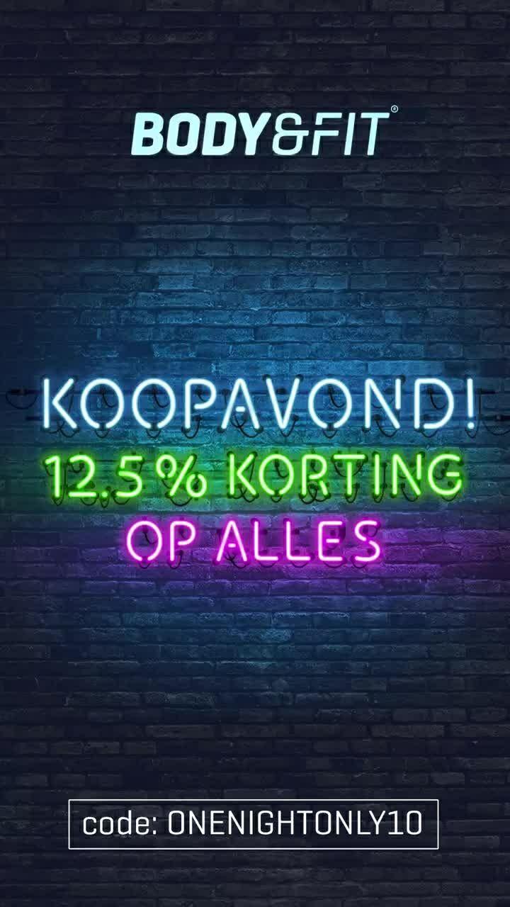 Body & fit Koopavond 12.5 % korting