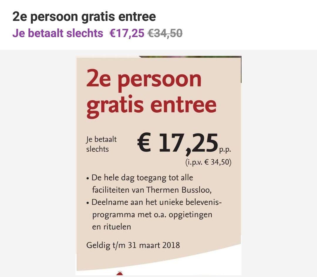 Thermen Bussloo, 2e kaartje gratis