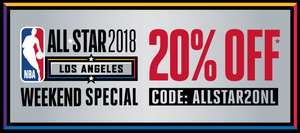 20% korting: NBA All Star Weekend Special bij SNIPES