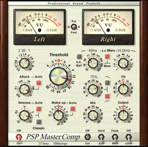 (VST Software) PSP Audioware MasterComp voor €27.27 Normaal €227.77 @Pluginboutique