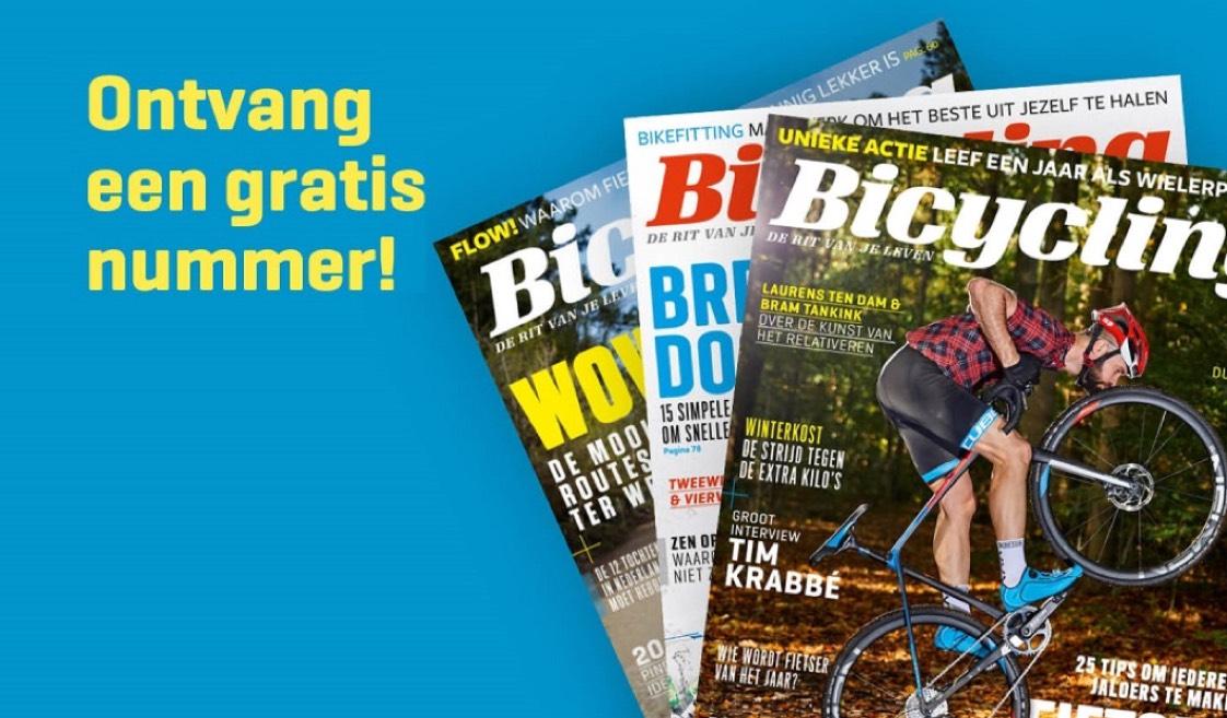 GRATIS Bicycling blad nr 1 - 2018 t.w.v. €5,95