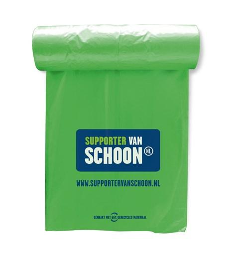 gratis vuilniszakken en andere producten, opruimactie pakketten zijn inmiddels op.