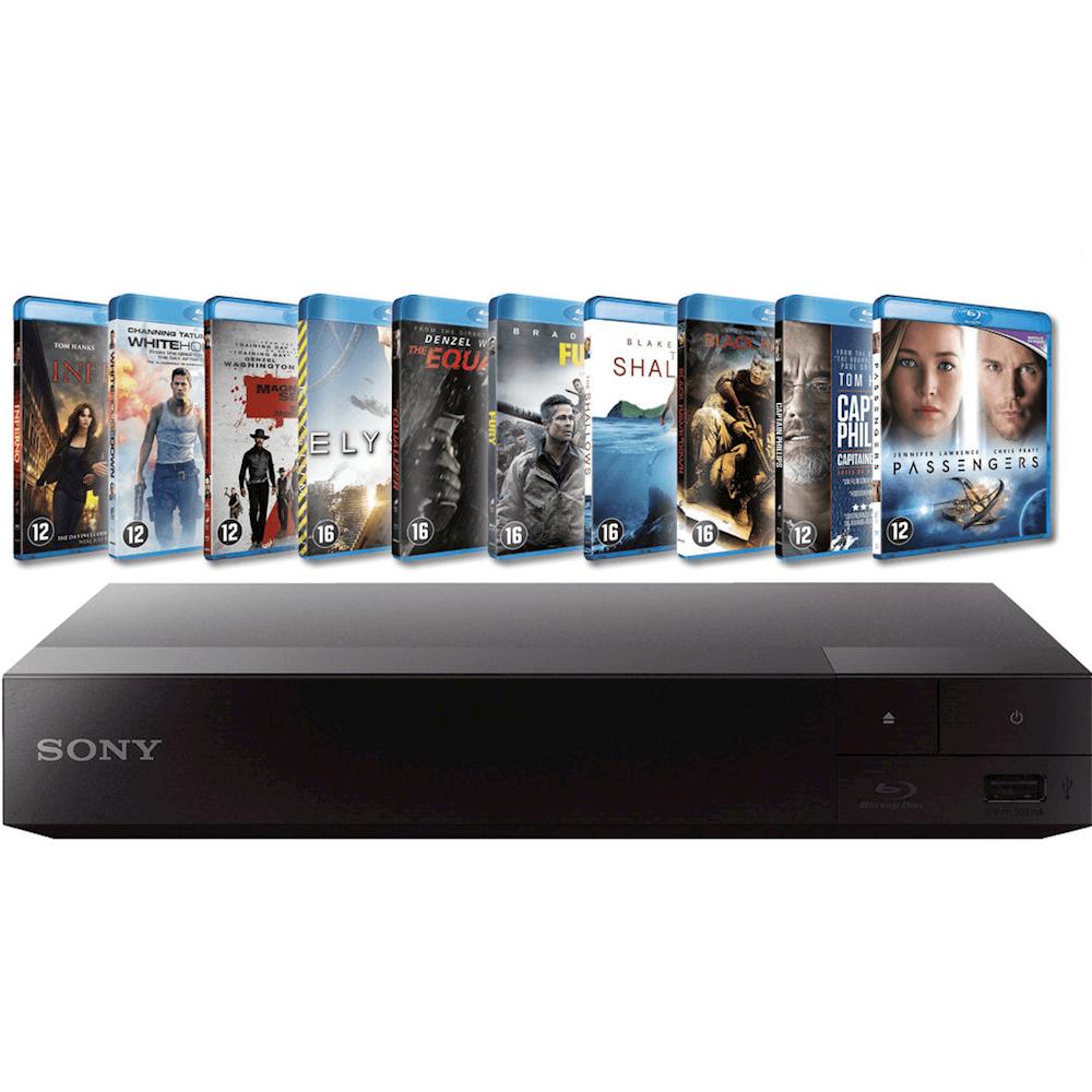 Sony blu-ray speler BDPS1700 + 10 Films